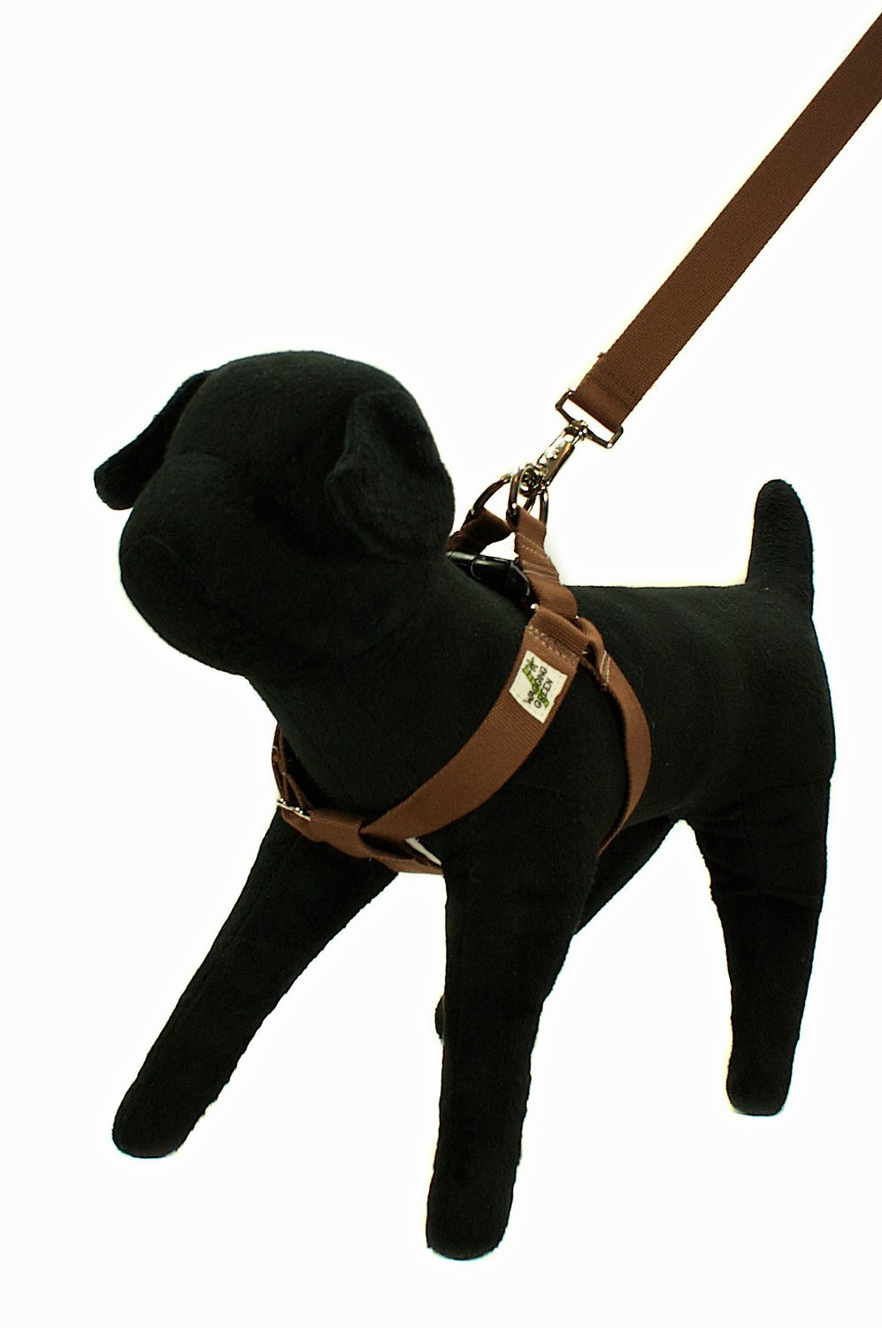 Eco Friendly Bamboo Single Layer Step-In Dog Harness - Tree Bark