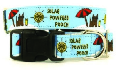 Eco Friendly Bamboo Saving The Earth Series Dog Collars - Solar Powered Pooch