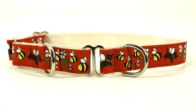 Eco Friendly Bamboo Saving The Earth Series Dog Collars - Honey Bee (1
