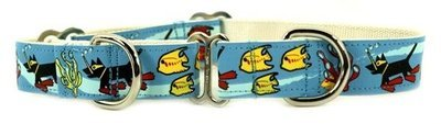 Eco Friendly Bamboo Saving The Earth Series Martingale Collar - Making Waves