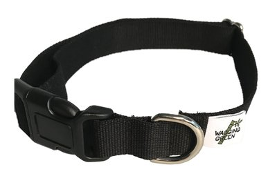 Eco Friendly Bamboo Double Layer Dog Collar - Midnight
