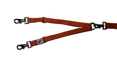 Eco Friendly Bamboo Tandem Leash Accessory - Falling Leaves