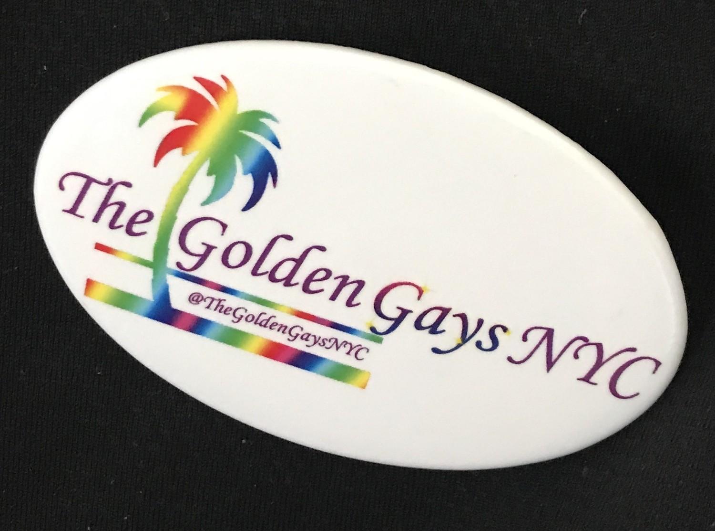 Button - Golden Gay pin