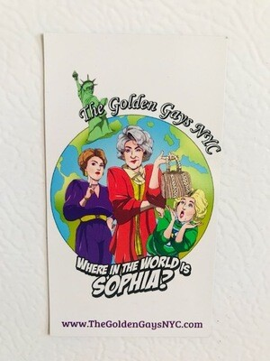 Magnet- Where in the world is Sophia?