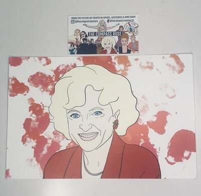 Rose Card Stock Print