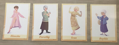 Trading Cards - Set Of 4