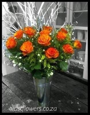 Galvanized Roses