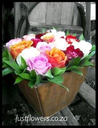 Roses in Galvanized