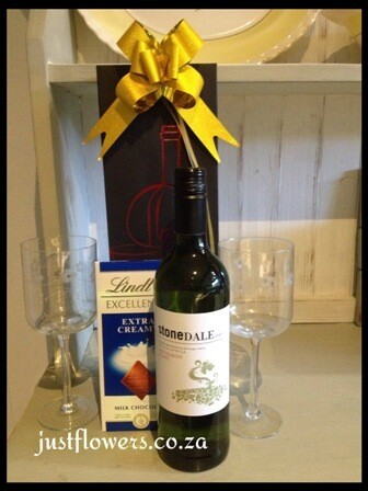 White Wine + Lindt in Gift bag
