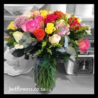 Rose Vase 40 Roses