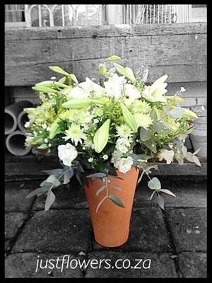 Pottery Vase in white