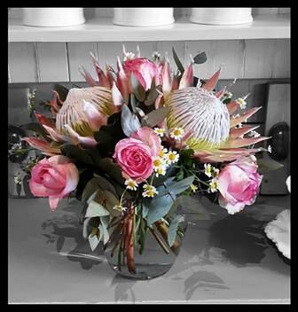 Protea & Rose Vase