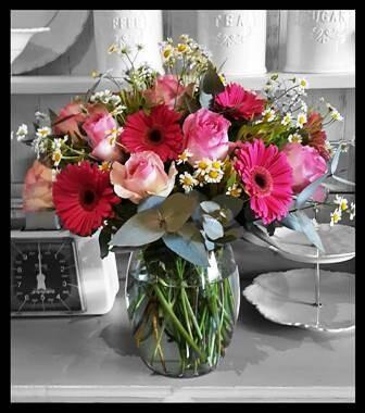Gerbera & Rose Vase