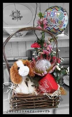Choc's, Soft Toy & Seasonal Flowers