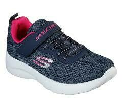 Skechers GIRLS Dynamight 2.0 - Navy/Hot Pink
