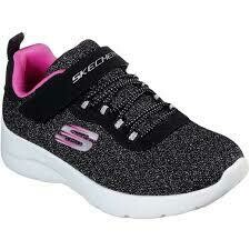 Skechers GIRLS Dynamight 2.0 - Black/Hot Pink