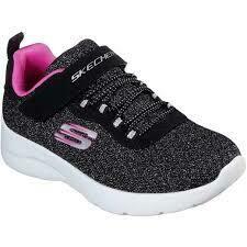 Skechers GIRLS Dynamight 2.0 - Black/Hot Pink