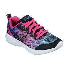 Skechers GIRLS Go Run - Black/Pink