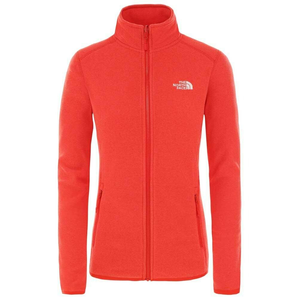 W NF Glacier Full Zip Fleece - Red