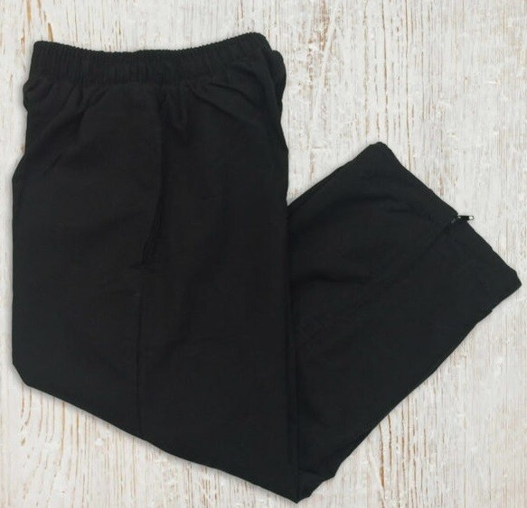 Kids Microfibre Track Pants - Black