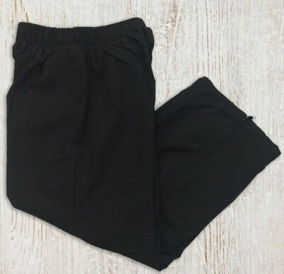 Kids Microfibre Track Pants - Black