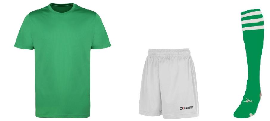 Underage GAA Kit - Green/White