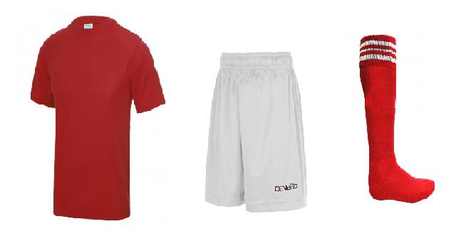Underage GAA Kit - Red/white