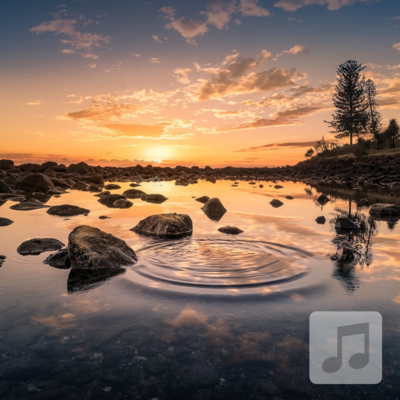 Skipping Stones | Alpha Wave Binaural Beats Music