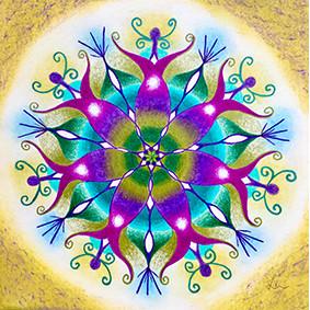Lysel Mandala Artprint 'Passie' (vanaf prijs)