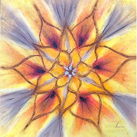 Lysel Mandala Artprint 'Stralen' (vanaf prijs)
