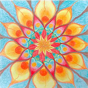 Lysel Mandala Artprint 'Genieten' (vanaf prijs)