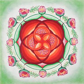 Lysel Mandala Artprint 'Het Leven gedragen diep in Moederschoot' (vanaf prijs)