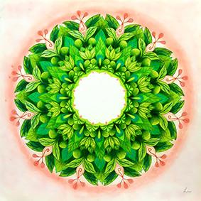 Lysel Mandala Artprint 'Leven is Liefde, Liefde is Leven' (vanaf prijs)