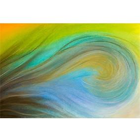 """Lysel Pastel Art """"Overspoeld"""" 45x75 (ook als wenskaart)"""