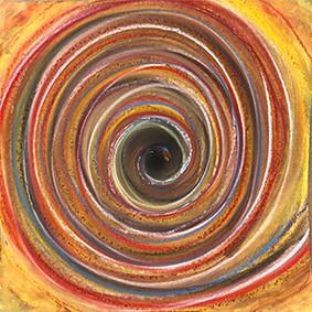 """Lysel Pastel Art """"Binnenste naar Buiten"""" 30x30  (ook als wenskaart)"""