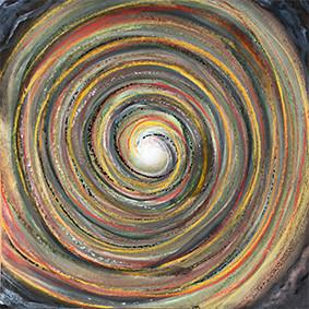 """Lysel Pastel Art """"Buiten naar Binnenste"""" 30x30 (ook als wenskaart)"""