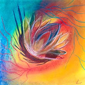 "Lysel Pastel Art ""Wervelende Kracht"" / ""Swirling Power"" 30x30"