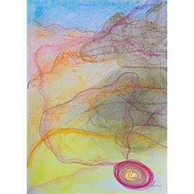 """Lysel Pastel Art """"Een Pad Ontstaat"""" (verkocht, enkel als wenskaart)"""