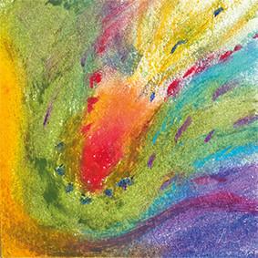 """Lysel Pastel Art """"Intuïtieve Voelsprieten"""" (verkocht, enkel als wenskaart)"""