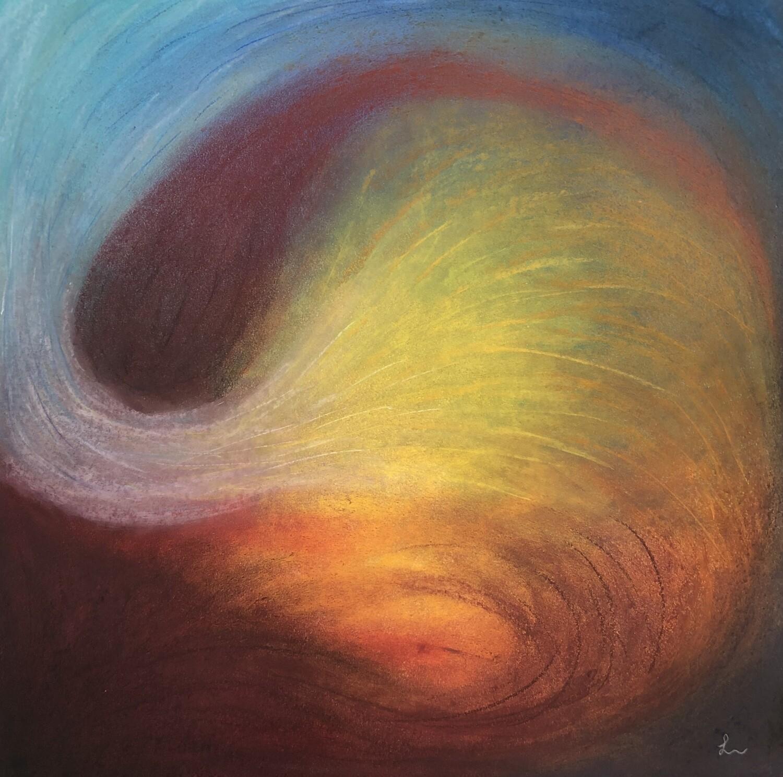 "Lysel Pastel Art ""Verbonden"" / ""Connected"" 40x40"