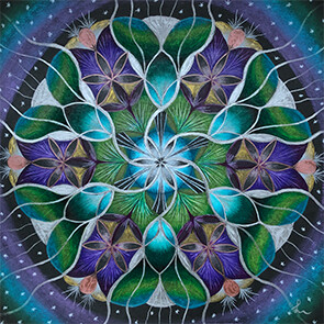 Lysel Mandala Artprint 'Licht in de Duisternis' (vanaf prijs)