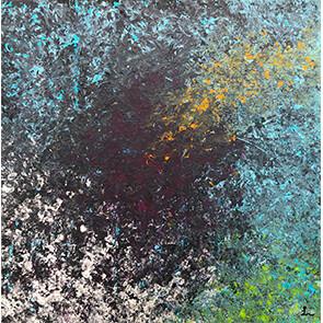 """Lysel Acryl Art """"Eruit Springen"""" 50x50 (ook als wenskaart)"""
