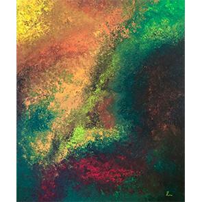 """Lysel Acryl Art """"Ontwaken in de Herfst"""" 120x100 (ook als wenskaart)"""
