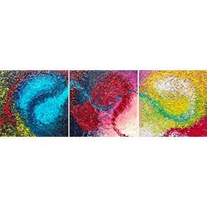 "Lysel Acryl Art ""Doorgeven""/ ""Pass Through"" 3x30x30"