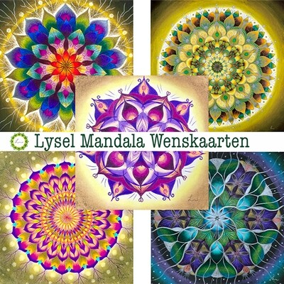 Lysel Mandala Wenskaarten Deep (5 stuks)