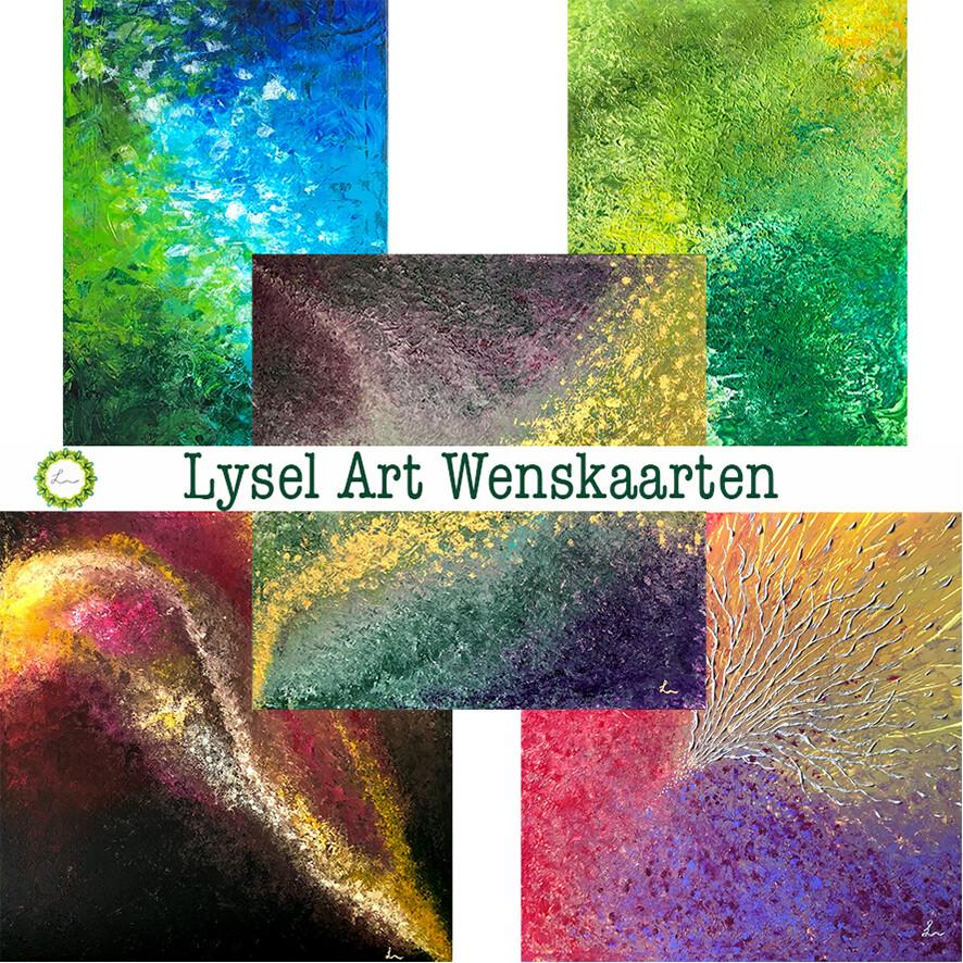 Lysel Art Wenskaarten Acryl (5 stuks)