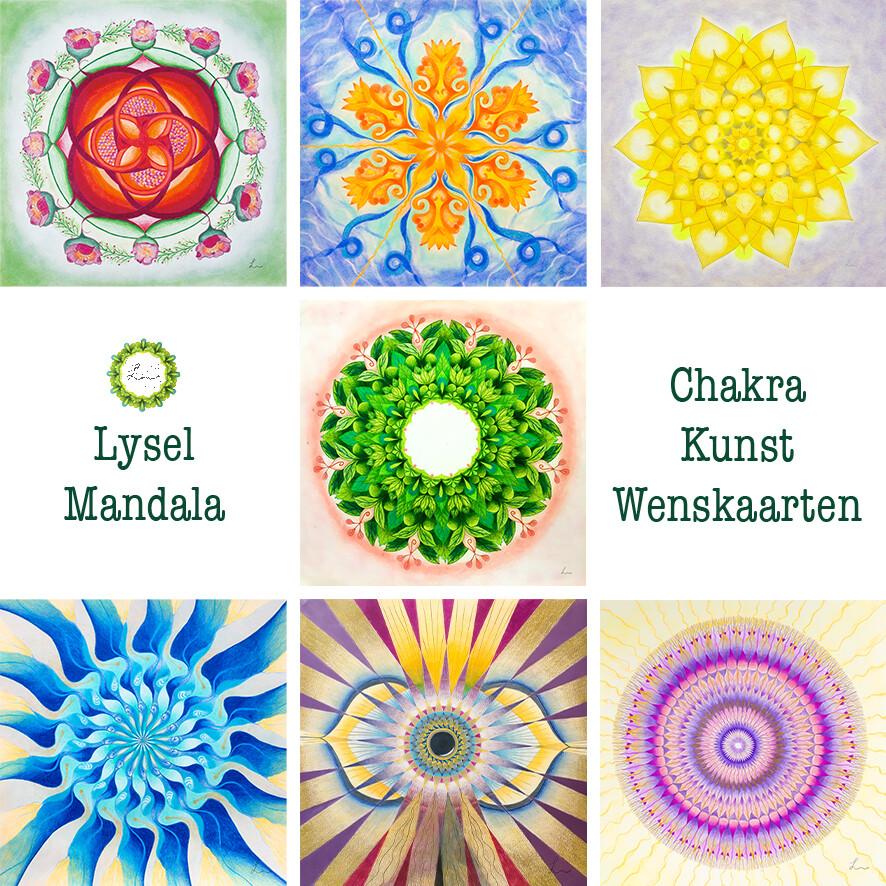 Lysel Mandala Wenskaarten Chakra (7 stuks)