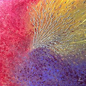 Lysel Acryl Art 'De Kracht van het Verbinden' (verkocht, enkel als wenskaart)