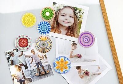 Lysel Mandala Magneet Buttons Chakra's (7 stuks)
