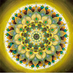 Lysel Mandala 'Perfecte Imperfectie' 75x75
